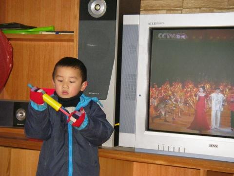 儿子在大年夜(2009.1.25) - 先行者 - 先行者的足迹