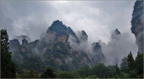【原创图文】烟雨武陵源 朦胧张家界 - 谷风 - 谷风图文