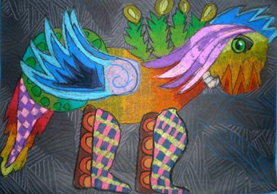 孩子眼中的四不像  系列三 - 彤馨童画 - 彤馨·童画的博客