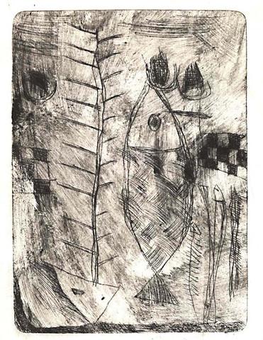 《有鱼》--我的铜版画(组画) - 会笑的蜻蜓 - 会笑的蜻蜓
