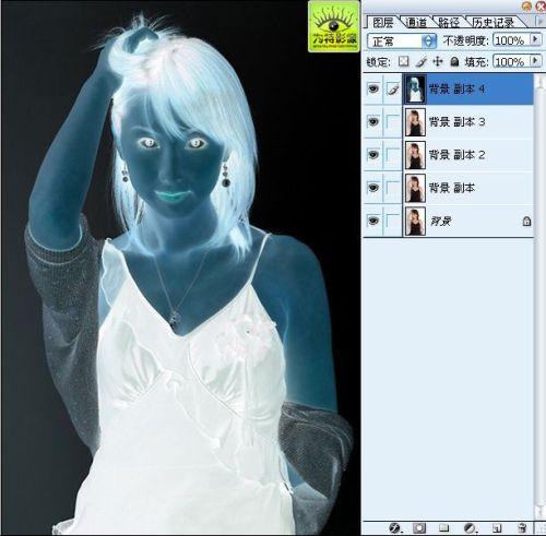 PS处理美女照片为插画效果方法 - 迎春 -