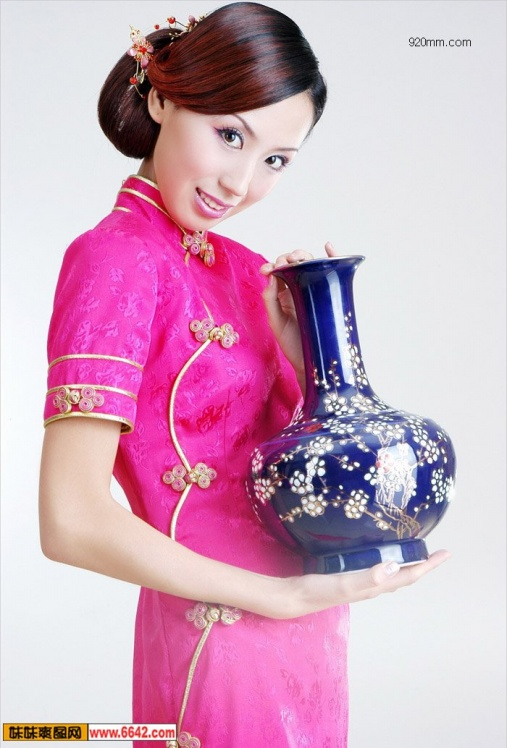 中国旗袍 - 天高云淡 -        天高云淡