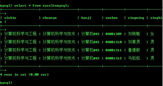 将Excel数据导入MySql  - 一切随缘 - 海阔天空