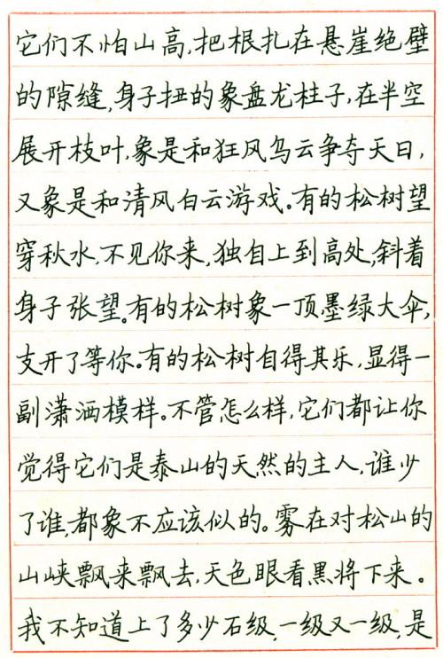 钢笔书法楷书 11