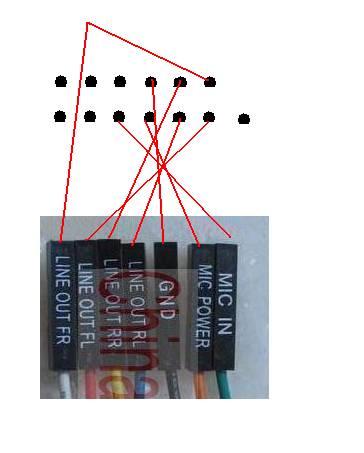 联想主板前置音频 接法 介绍和示意图图片