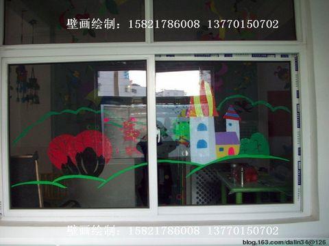 市王场一幼儿园门窗墙壁装饰手工制作装饰布置图片