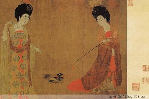 中国十大名画之 《簪花仕女图》周昉 - 牧马人 - 牧马人