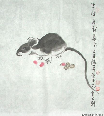 国画十二生肖 【子鼠】 - 许跟虎 - 许跟虎国画艺术