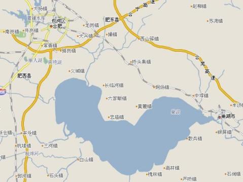 地图上的巢湖图片