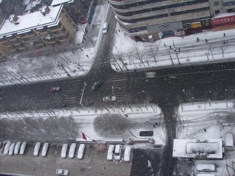 《雪·自家窗外》(photo) - 老艾 - 遥 远 的 胡 杨 林