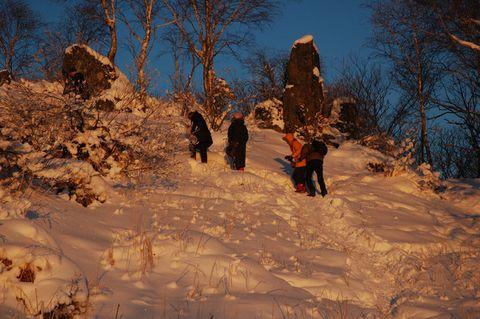 [原创]雪乡雪景2- 山上看红色的雪 - 松江蓑笠翁hitcdw - hitcdw摄影、旅游