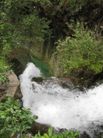 踏雪头瀑布(新昌的瀑布之十二) - 江村一老头 - 江村一老头的茅草屋