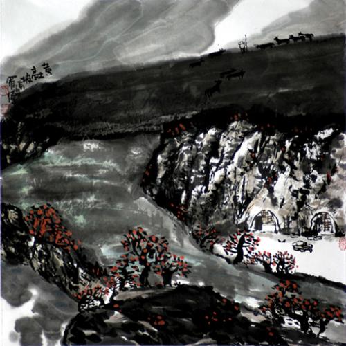 黄土高坡系列 - 书画家罗伟 - 书画家罗伟的博客