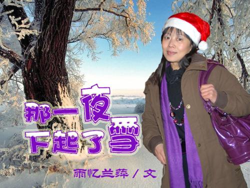 那一夜飘起了雪 - 雨忆兰萍 - 网易雨忆兰萍的博客