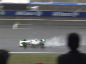 布朗GP车队的巴顿的赛车
