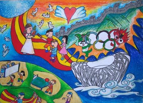 冬奥会金牌榜》》北京冬奥会》》冬奥会滑雪儿童画