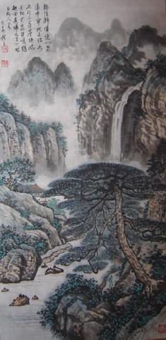 山水作品二幅 - 合川游子 - 合川游子