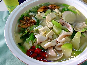 强扭的葫芦瓜就是鲜---葫芦海鲜汤 - 可可西里 - 可可西里
