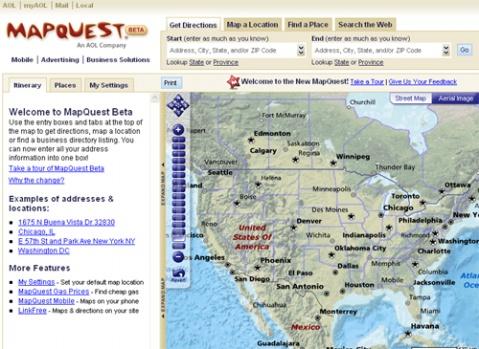 Mapquest:敢与Google Map比高低 - 令冲冲 - 飞越梦想