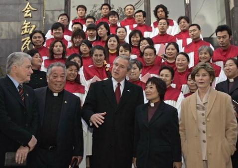转贴:布什在北京参加基督教主日崇拜 - am - am的博克