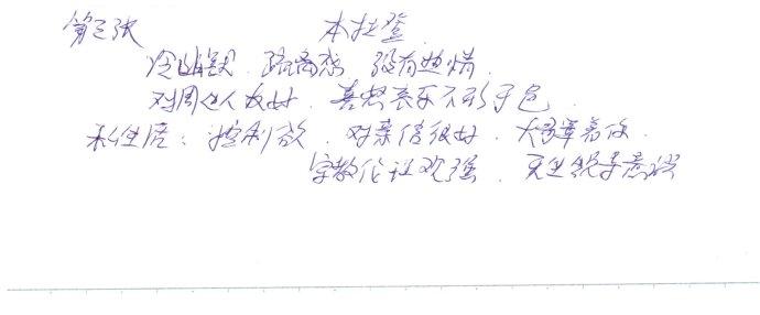 笔迹入门课童鞋作业:木蓝分析vivian peng… - 巫昂 - 巫昂智慧所