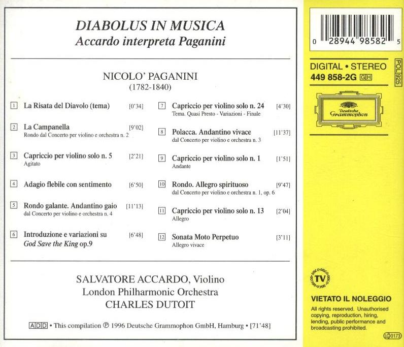 【专辑】阿卡多《魔鬼的颤音 - 阿卡多演绎帕格尼尼》 - 故事里旅行 -