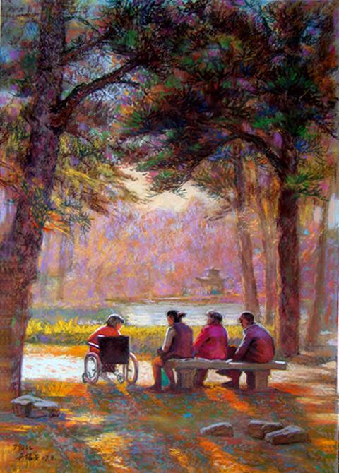 吴锡安先生和他的艺术创作 - 粉画家吴锡安(亚亚) - 粉画家吴锡安(亚亚)