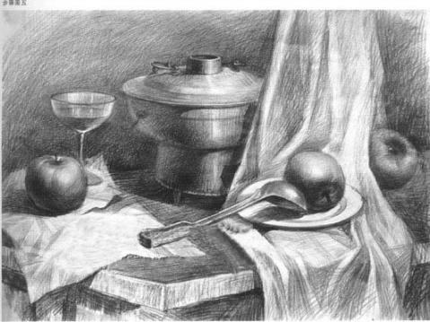 明暗素描静物默画的表现方法及作画步骤
