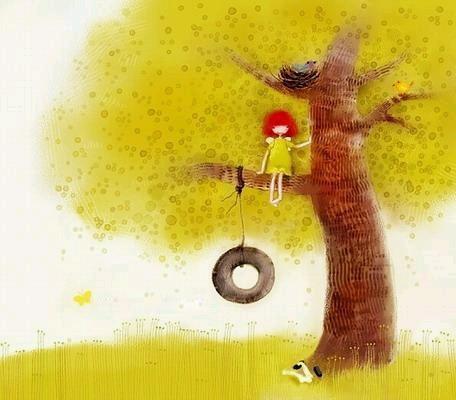 卡通春天落叶的图片