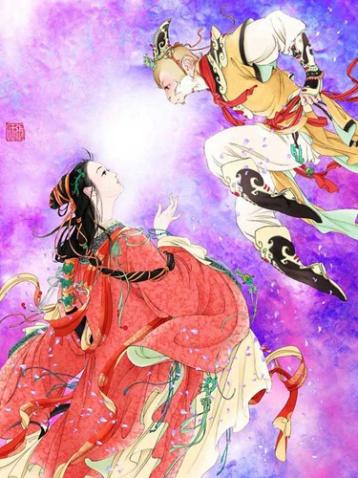 【引用】隐隐水墨情浓浓中国风 插画大师张旺手绘作品 - 剪纸刘罡 - 剪纸刘罡的博客
