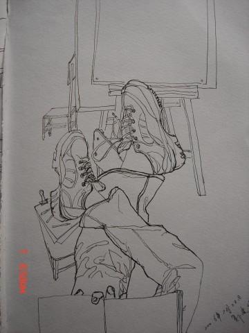 我的部分钢笔速写,有人物速写.风景速写.图片