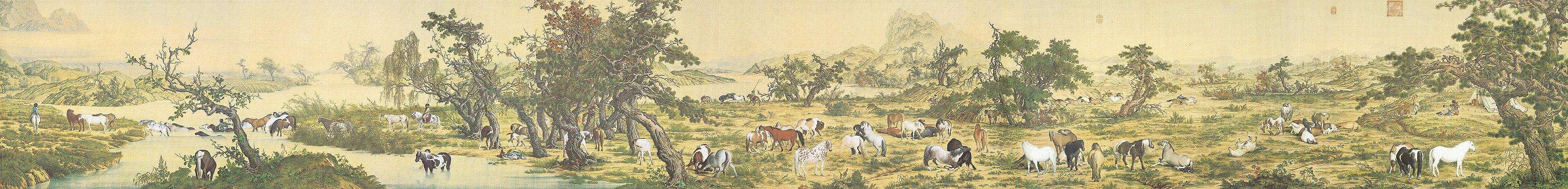 中国十大传世名画之十《百骏图》 - 闲散人也 -
