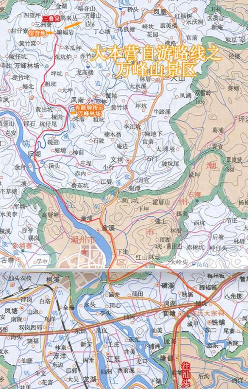 汕头市凤凰山路地图