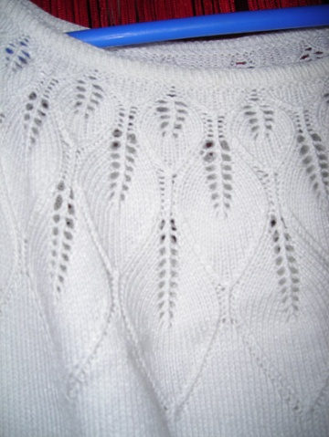 圆肩叶子毛衣 - 燕子爱编织 - 燕子用心编织未来