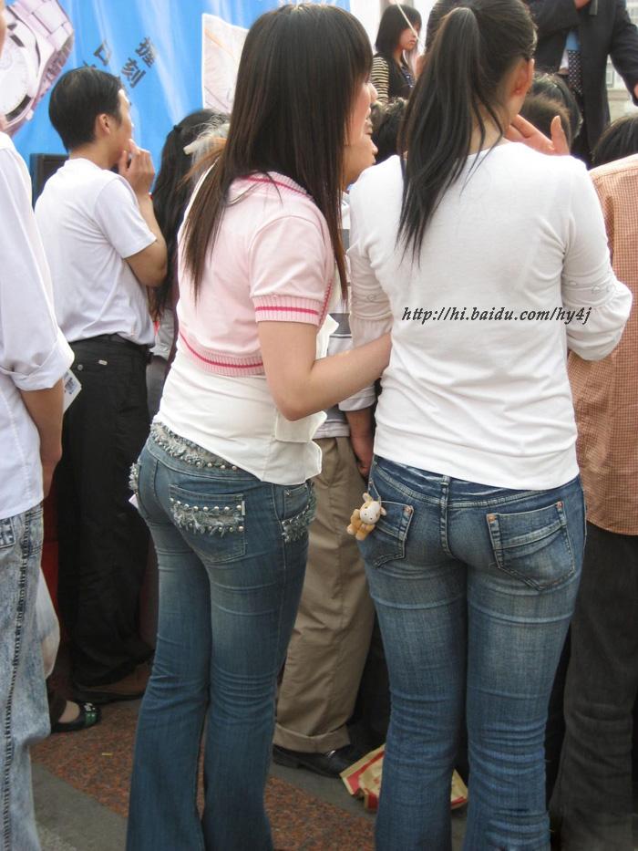 两个牛仔丰臀少女 - 源源 - djun.007 的博客