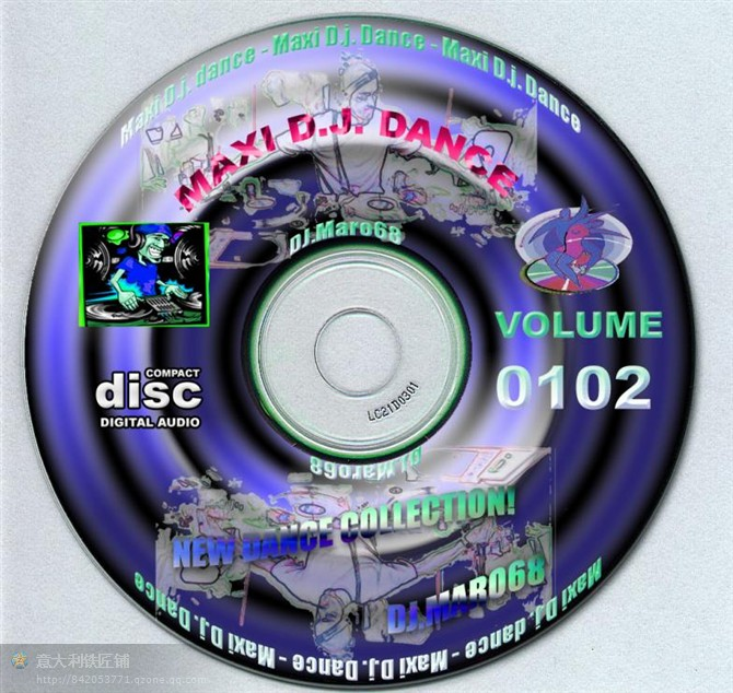 MAXI D.J. DANCE VOL.0102 (New Dance) - 意大利铁匠 - 分享劲爽节奏--XINBO21