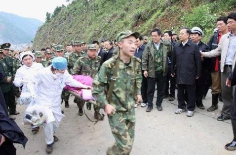 温总理视察北川汶川 - 军中一卒 - 在军旗下成长