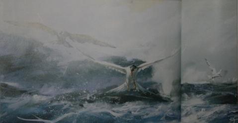 画(13):等待海鷗 - 蓝桑的画中话 - 画中话