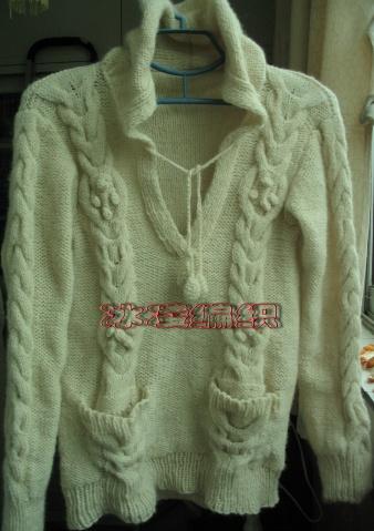 白色生羊毛衣完工 - 冰凌 - 展现自我  博采众长