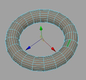 在Maya中对poly进行法线方向的缩放和移动