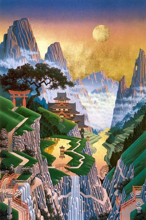 [图片欣赏]画中美景 - 狼狐 - 散花竹