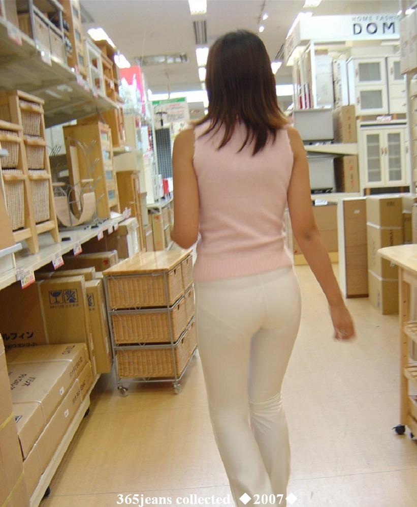 裤女【9p】 - lx   超市遇见的白色透明紧身短裙mm - ♂美人