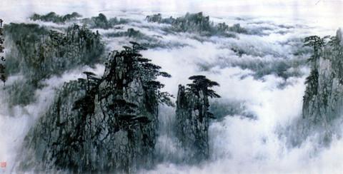 安徽刘有成山水画欣赏 - 长安若水 - 青青芳草地