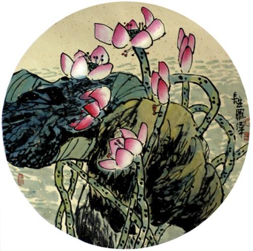荷塘四季原创 - 书画家罗伟 - 书画家罗伟的博客