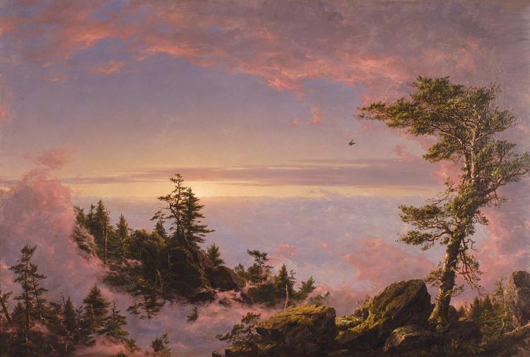丘奇:美国风景画,摈弃欧洲,走向世界 - 仰望星空 - 橘郡的山坡