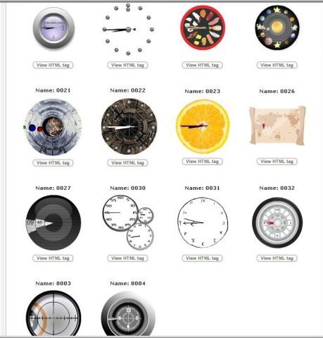 在线获取漂亮时钟 - 傲气狂龙 - 傲气狂龙