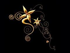 黑色炫彩花纹背景 - 鳕鯡鮩鲒 - ,