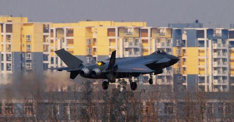 资料图:网上流传的国产歼20隐形战机图片