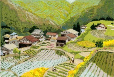 日本女画家見代ひろこ的作品 - 野蔷薇(何鸣芳) - 我的博客