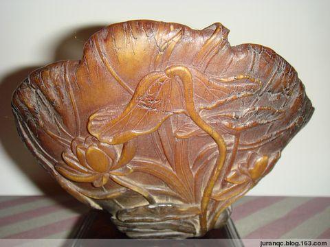 《明代犀牛角雕荷花杯》(图文原创) - bono - Bono的博客